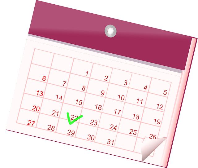 Calendario fechas importantes